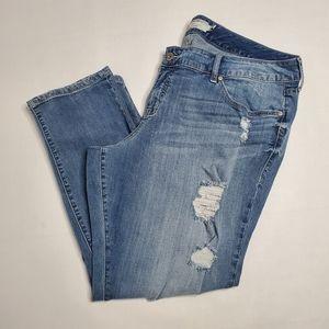 Torrid Straight Leg Distressed Jeans Size 20S